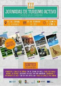 Cartel de las III Jornadas de Turismo Activo del Foro Bajo Guadiana