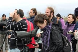 Los participantes en la iniciativa pudieron disfrutar de las vistas que ofrece este paraje onubense.
