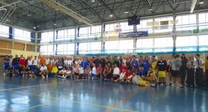 Los participantes en esta Liga de Veteranos de baloncesto.