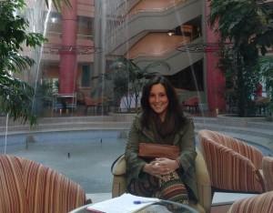 La presidenta de la asociación, Vanesa Benitez.