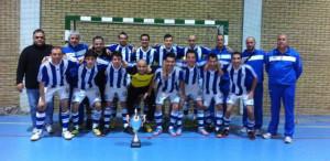Equipo del Club Deportivo Sordos de Huelva, de nuevo campeón de España de fútbol sala.