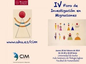 Cartel del IV Foro de Investigación en Migraciones.
