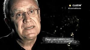 Diego Lopa, en el programa Cuarto Milenio.