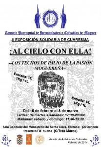 Cartel de la exposición cofrade de Moguer.