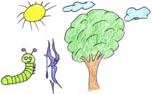 Dibujo de Yerai Garrido para el sello.
