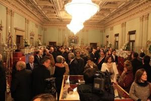 La inauguración de la exposición ha contado con gran afluencia de público.