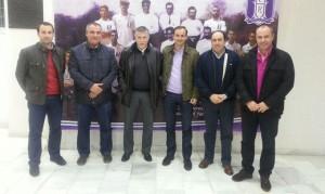 Miembros de la Comisión del Centenario de La Palma y del consejo del Recre, tras la reunión.