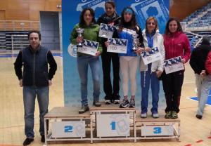 El podio en la categoría femenina.
