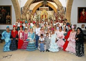 Los mayordomos de la romería 2013.