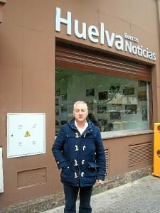Maxi Cruz, patrón mayor del 'Enriaero', visitó Huelva Buenas Noticias.