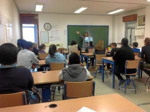 Los alumnos asistentes al taller.
