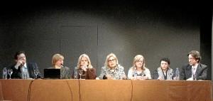 Mesa presidencial del acto celebrado en Madrid.