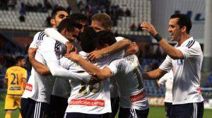 El Recre por fin pudo celebrar un triunfo ante su gente. / Foto: Josele Ruiz.