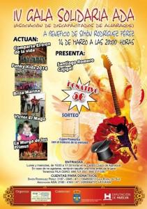 Cartel de la IV Gala Solidaria de ADA, a beneficio de Simón.