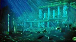 La Atlántida quedó sepultada bajo el mar tras un maremoto.