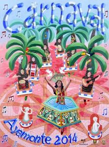 Cartel del Carnaval de Ayamonte 2014.