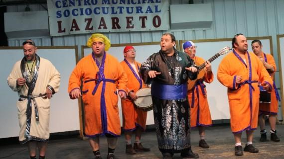 La murga 'El Carnaval spá relajarse' y la comparsa 'Los Patata', ganadores del XXXI Concurso de Agrupaciones del Carnaval Colombino