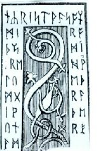 Runas irlandesas de la Cruz rúnica de Ruthwell, muy parecidas a las tartéssicas.