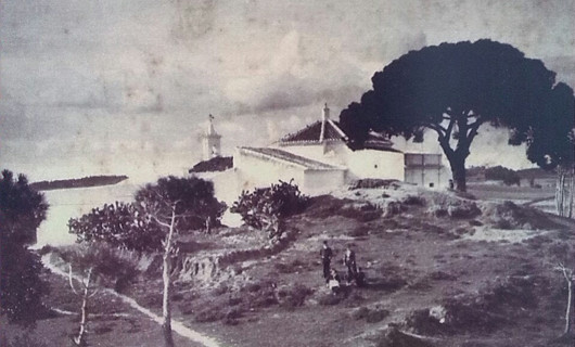 Ermita de Montemayor desde la Casa de los Velos a principios del siglo XX