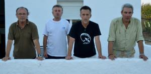 José Luis Rúa, Eladio Orta, Diego Mesa y Antonio Mirabent.