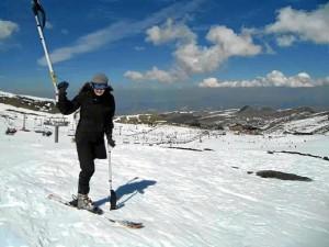 Esquiar, otro de los deportes que ha practicado.