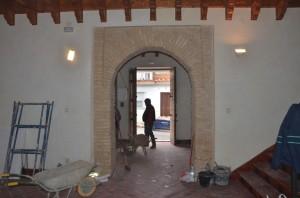 Trabajos de remodelación de la Casa de la Misericordia en Palos.