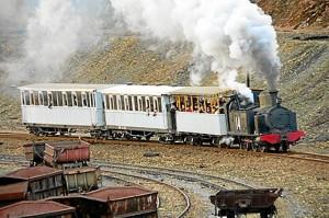 El tren era un medio de transporte muy utilizado en la provincia.