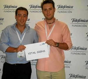 Estos jóvenes han recibido el premio Think Big por su proyecto 'Vital Signs'.