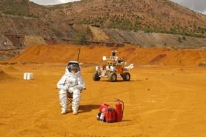 Pruebas de la NASA en el río Tinto. / Foto: F. Gómez/ CAB.