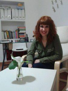 La psicóloga María Vílchez en su despacho.
