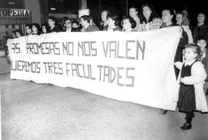 Los onubenses demandaron tres facultades. / Foto: grupo en facebook llamado 3 de Marzo para la Universidad de Huelva
