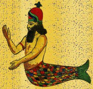 El nombre de Mazagón parece proceder de este dios, mitad hombre, mitad pez.