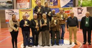 Los vencedores en el Campeonato de Andalucía de dominó.