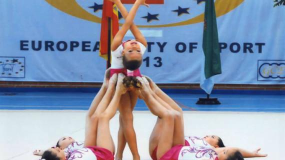 Más de 250 gimnastas toman parte en la primera fase del Circuito Provincial de gimnasia rítmica