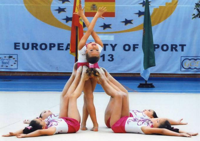 La gimnasia rítmica será protagonista el viernes en Beas.