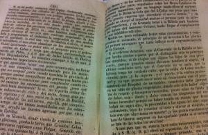 Interior del escrito que Mariano Alonso hizo de las obras de rehabilitación de La Rábida.