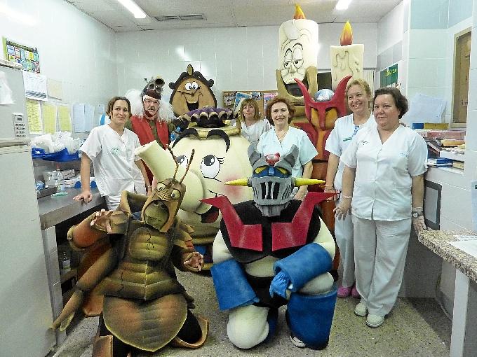 Personajes de Disney han visitado el área de Pediatría.