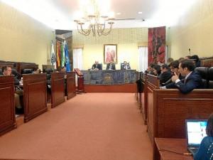Celebración del pleno de la Diputación Provincial de Huelva.