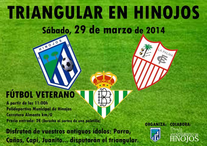 Cartel anunciador del triangular en Hinojos.