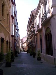 Vista de la calle Gobernador Alonso de Huelva.