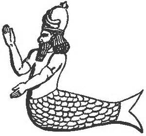 Representación del dios Dagon.