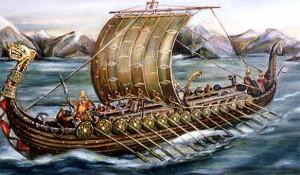 Barco vikingo.