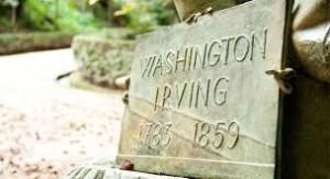 Irving vino a Huelva en la primera mitad del siglo XIX, como recuerda una placa instalada en La Rábida.