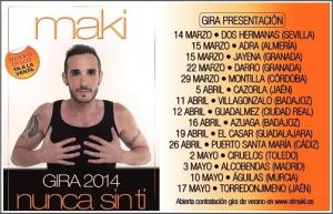 Maki tiene una completa gira por España.
