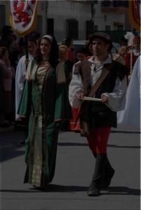 Existen muchas posibilidades para vestirse en la Feria. / Foto: Feria Medieval de Palos.