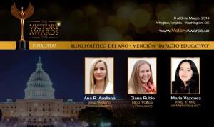 La onubense se encuentra entre las tres finalistas a mejor blog político.