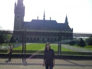 En el Palacio de la Paz, sede del Tribunal Internacional de la Haya