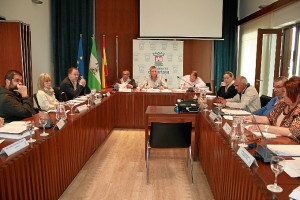 Una imagen de la sesión plenaria del Ayuntamiento de Cartaya.
