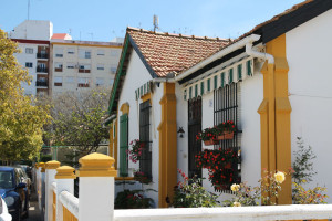 Los ingleses diseñaron este barrio con su tipología de casas habitual.