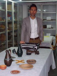Pablo, en los fondos del Museo Provincial de Huelva.